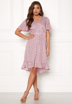 Y.A.S Dawny S/S Dress Dawn Pink W Gold Bubbleroom.se