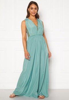 Y.A.S Elena SL Maxi Dress Oil Blue Bubbleroom.se