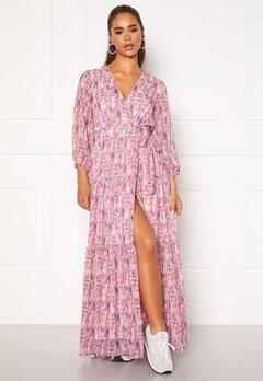 Y.A.S Esmeralda Wrap 3/4 Maxi Dress Cradle Pink Bubbleroom.se