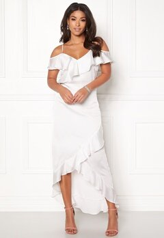 Y.A.S Fielle Off Shoulder Dress Star White Bubbleroom.se
