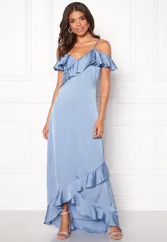Y.A.S Fielle Off Shoulder Maxi Dress Delia Robbia Blue Bubbleroom.se