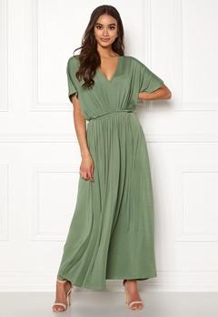 Y.A.S Freya SS Ancle Dress Hedge Green Bubbleroom.se