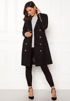 Y.A.S Goldia Coat Black Bubbleroom.se