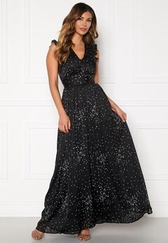 Y.A.S Greta Maxi Dress Black, AOP Bubbleroom.se