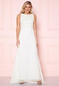 Y.A.S Ibylla SL Train Dress Star White Bubbleroom.se
