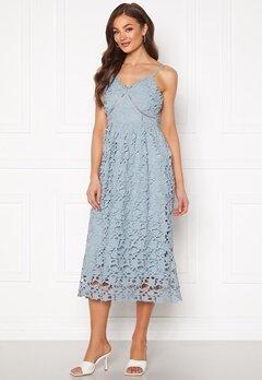 Y.A.S Luie Strap Midi Dress Dusty Blue Bubbleroom.se