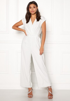 Y.A.S Mamba S/S Jumpsuit Star White Bubbleroom.se