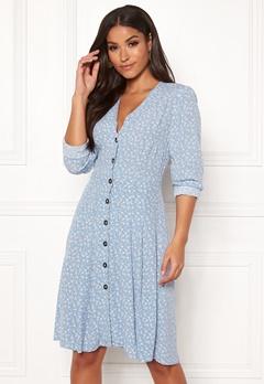 Y.A.S Mau LS Dress Bel Air Blue Bubbleroom.se