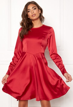 Y.A.S Meo LS Dress Haute Red Bubbleroom.se