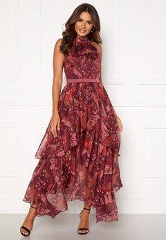 Y.A.S Natalie Maxi Dress Russet Brown, AOP Bubbleroom.se