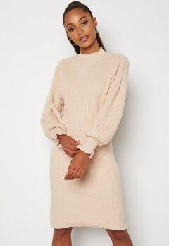 Y.A.S Palia LS Knit Dress Eggnog bubbleroom.se