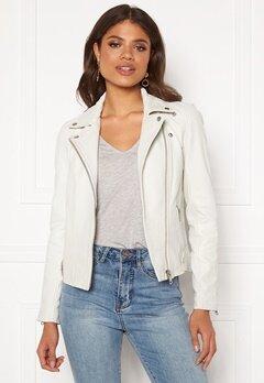 Y.A.S Philippa Biker Jacket Star White Bubbleroom.se