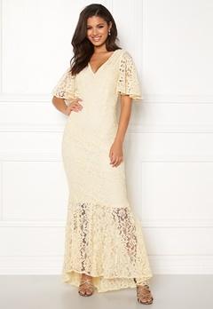 Y.A.S Radic Lace Maxi Dress Antique White Bubbleroom.se