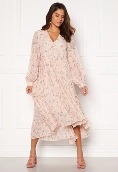 Y.A.S Riga Ls Midi Dress Shifting Sand Bubbleroom.se