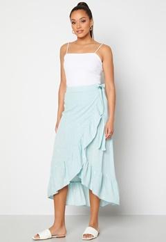 Y.A.S Yvonne HW Long Wrap Skirt Star White Yvonne Pr Bubbleroom.se
