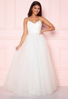 Y.A.S Zetia Strap Maxi Dress Star White Bubbleroom.se
