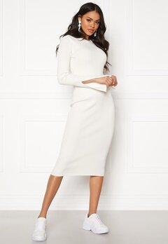 Y.A.S Zippy Knit Dress Star White Bubbleroom.se