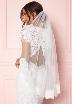 Zetterberg Couture Nour Veil Short 90 cm Ivory Bubbleroom.se