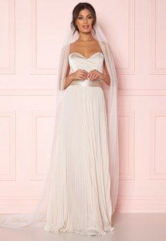 Zetterberg Couture Plain Veil Long 250 cm Ivory Bubbleroom.se