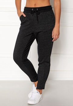 ONLY PLAY Zira glitter Sweat Pants Black/Silver Bubbleroom.no