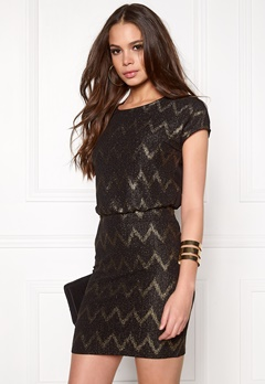 ONLY Ziva S/S Dress Black Bubbleroom.no