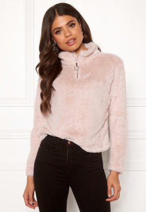 Rut & Circle Alex Fur Sweater Ice Pink M