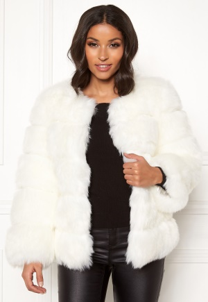 AMO Couture Dusk Faux Fur Coat White M (10)