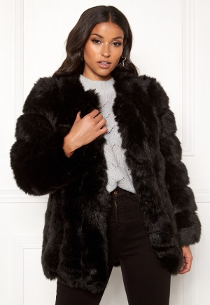 AMO Couture Renaissance Faux Fur Coat Black L (12)