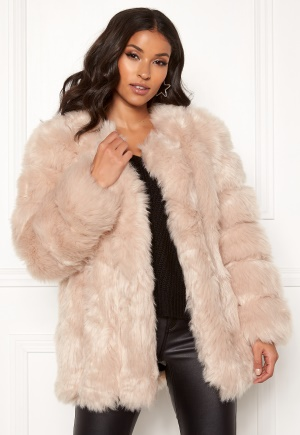AMO Couture Renaissance Faux Fur Coat Soft Beige M (10)