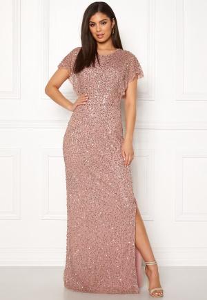 AngelEye Allover Sequin Maxi Dress Rose gold M (UK12)