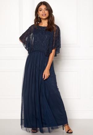 AngelEye Angel Sleeve Maxi Dress Navy M (UK12)