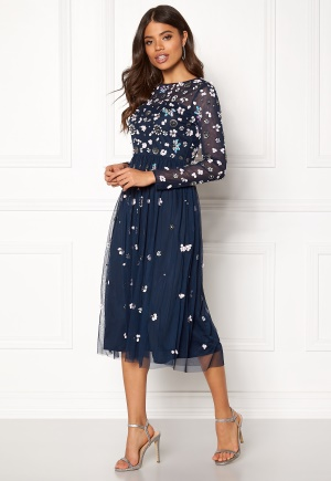 AngelEye Flower Embellished Dress Navy M (UK12)