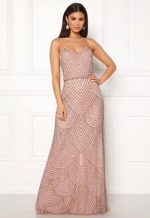 Bilde av Angeleye Strappy Sequin Maxi Dress Cameo Rose Xl (uk16)