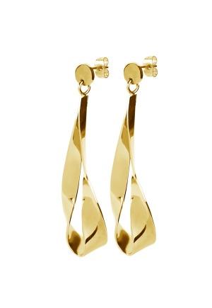 Dyrberg/Kern Arc Shiny Earrings Gold One size