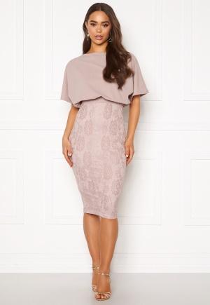 Bilde av Ax Paris 2 In 1 Lace Skirt Dress Mushroom L (uk14)