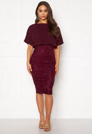 Bilde av Ax Paris 2 In 1 Lace Skirt Dress Plum L (uk14)