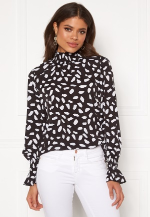 AX Paris Abstract Spot Blouse Black S (UK10)