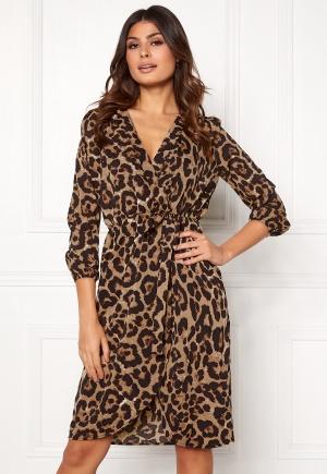 AX Paris Animal Print Wrap Dress Multi M (UK12)