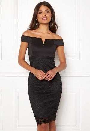 AX Paris Bardot Lace Midi Dress Black S (UK10)