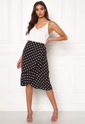 AX Paris Blouson Polka Dot Dress Black S (UK10)