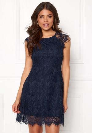 AX Paris Cap Crochet Lace Dress Navy L (UK14)
