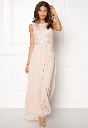 AX Paris Crochet Overlay Dress Nude M (UK12)