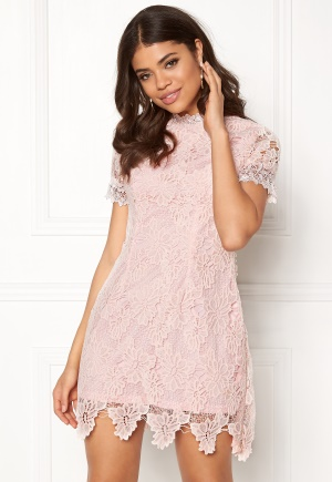 AX Paris High Neck Lace Dress Blush L (UK14)