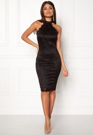 AX Paris High Neck Lace Midi Dress Black L (UK14)