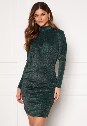 Image of AX Paris High Neck Rough Sparkle Dress Teal XS (UK8)