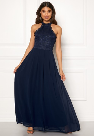 AX Paris Lace Bodice Maxi Dress Navy M (UK12)