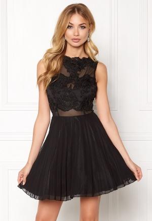 Image of AX Paris Lace Top Skater Dress Black M (UK12)