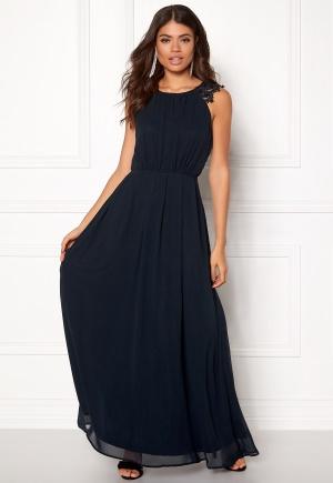 AX Paris Lace Trim Chiffon Dress Navy L (UK14)