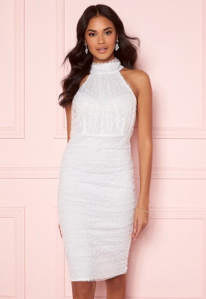 AX Paris Polka Dot Mesh Dress White XXS (UK6)