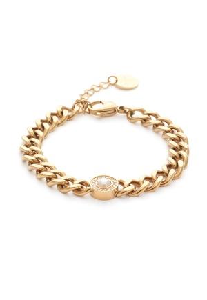 BY JOLIMA Belize Bracelet Pearl Crystal One size